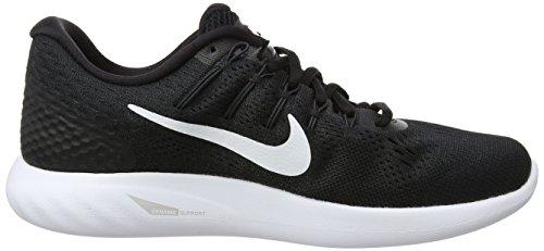 Preto Nike preto Tênis 8 Branco Lunarglide Mulheres 48q6B7