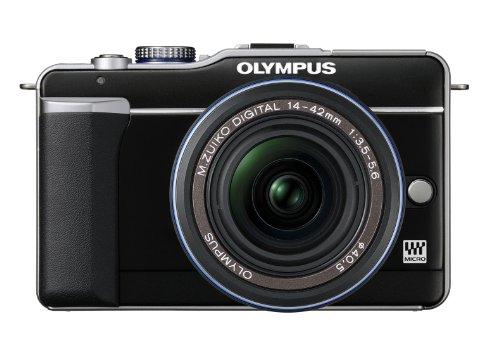 Olympus PEN E-PL1 Systemkamera (13 Megapixel, 6,9 cm (2,7 Zoll) Display, Bildstabilisator) Gehäuse schwarz Olympus Mini Digital