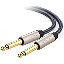 UGREEN Cavo Audio Stereo Jack 6,35mm Maschio a Maschio Jack Mono TS Cavi Patch Chitarra Placcato Oro, 2m - Mono Jack