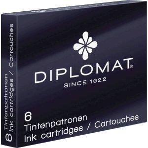 Diplomat Tintenpatronen Standard 6er Packung schwarz