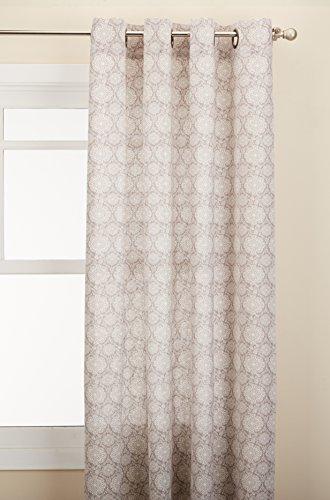 Lothringen Home Fashions Tülle Fenster Vorhang Panel, Putty, 137,2x 213,4cm (84 Vorhänge Tülle Oben)