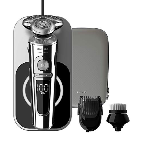 Philips 9000 Series Prestige SP9863 / 14 - Men's Electric Shaver with Qi Charging Tray.