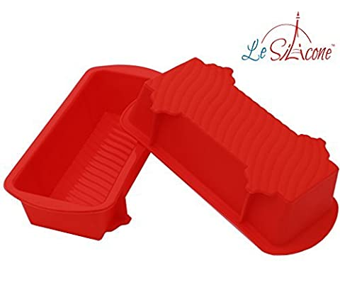 Le Silicone, Set of 2 Nonstick Small Petite Silicone Loaf Pans by Le Silicone