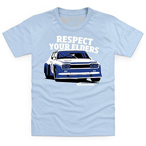 Classic Ford Respect Kinder T-Shirt, Kinder, Himmelblau, XS (Ford-kinder-t-shirt)