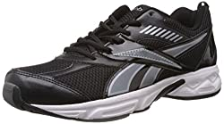 Reebok Mens Active Sports Black and Silver Mesh Running Shoes (V49025) - 6 UK
