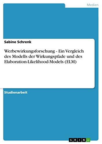 Werbewirkungsforschung - Ein Vergleich des Modells der Wirkungspfade und des Elaboration-Likelihood-Models (ELM)