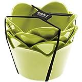 ZAK! Designs SET DE 4 COPAS DE POSTRE VERDES 0204-9990