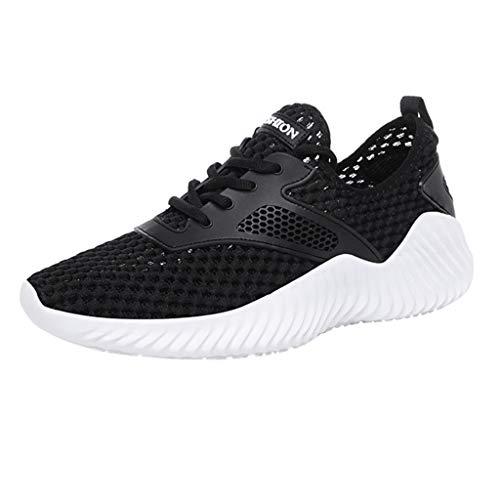 Anglewolf Laufschuhe Atmungsaktiv Outdoor Running Leicht Turnschuhe FüR Herren StraßEnlaufschuhe Sneaker Soft Bottom Sneakers Mesh Sneakers Leichte Schuhe (Beige,39 EU) -