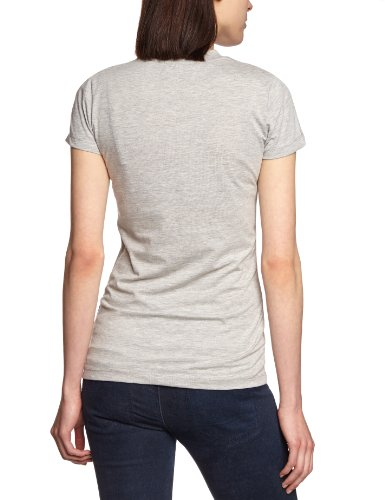 Cross Jeans Damen T-Shirt 50410 Grau (Grey Melange)