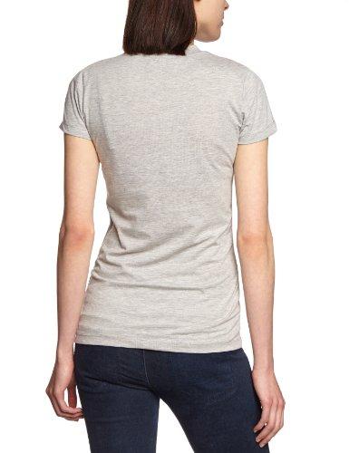 Cross Jeans Damen T-Shirt 50410 Grau (Grey Melange)