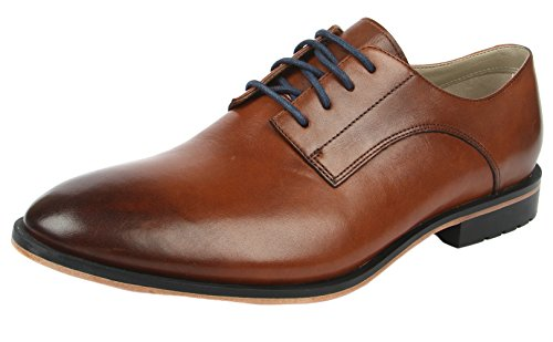 Clark Gatley Andar Mens Sotaque Lace Up Brogues Marrom (couro Tan)