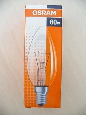10 Stück Osram Glühlampe 60 Watt Kerzenform Kerze NEU OVP Classic Klar B CL 60 von Osram - Lampenhans.de