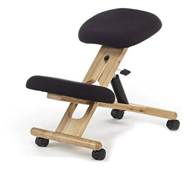 Ergonomic Kneeling Chair , Pneumatic gas lift seat , color black produced by Due-home innovations - quick delivery from UK.