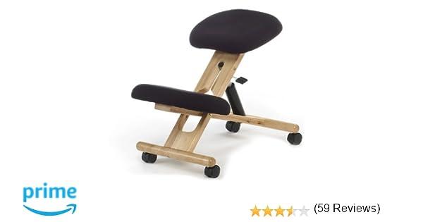 Due home innovations sedia al ginocchio con rotelle e rivestimento