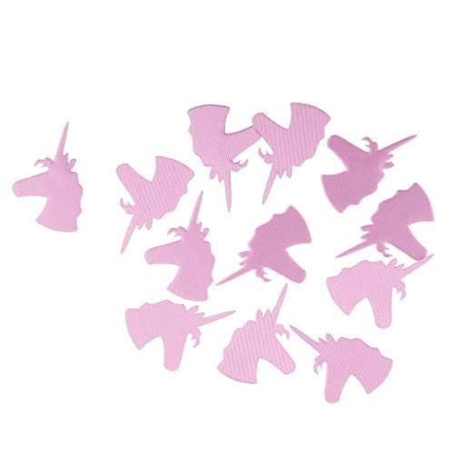 MagiDeal 200pcs Sparkle Unicorn Table Scatter Confetti Party Baby Shower Decor Blue - pink