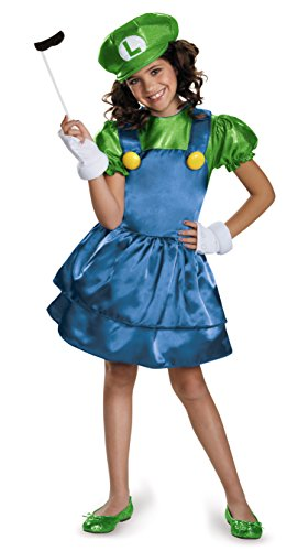 (Disguise Luigi Skirt Version Costume, Medium (7-8) by Disguise)