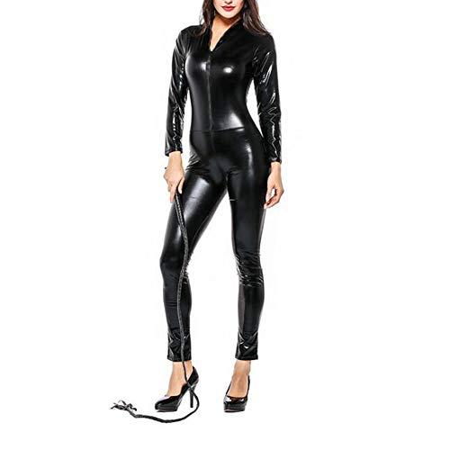 an Kostüm PU Leder Katzenkostüm Sexy Catlady Anzug Overallkostüm Ganzanzug Bodysuit Clubwear für Cosplay Party ()