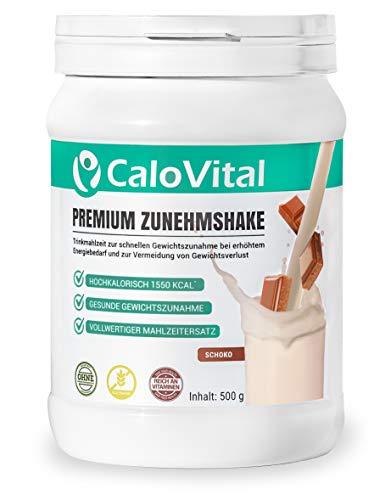 Trinknahrung hochkalorisch für Gewichtszunahme   Kohlenhydrate & Eiweiß als Kalorien Shake   Hochdosiert mit vielen Vitaminen   CaloVital - Premium Qualität aus Deutschland (Schoko 500g)