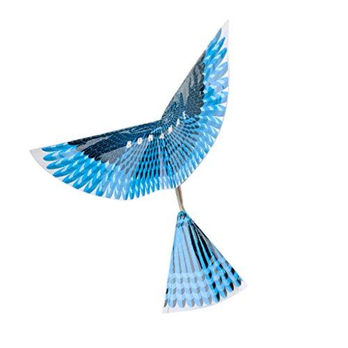 MagiDeal Gummiband Angetrieben Ornithopter DIY Flugzeug Vogel Outdoor Spielzeug (Starten Gummiband Flugzeug)