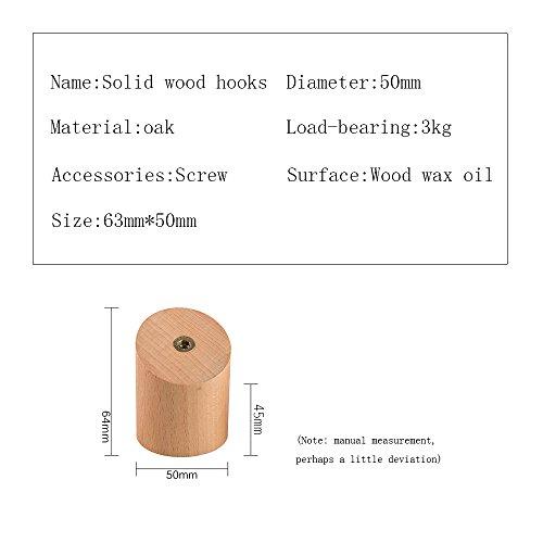 * Vanyda, supporti da parete in legno, staffe, ganci in legno da parete, supporti per appendere vestiti, cappelli, borse, set di 5 pezzi confronta il prezzo