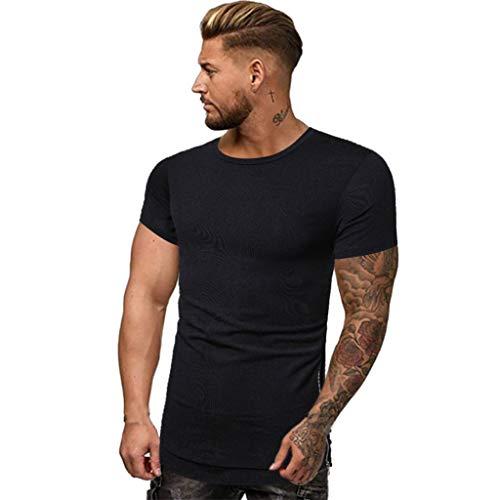 Kostüm Gutschein-codes ( Eaylis Herren T-Shirt Tops Einfarbiges, KurzäRmeliges Rundhals-Shirt Mit Schnell Trocknendem Sport-Fitness-Shirt T-Shirt)