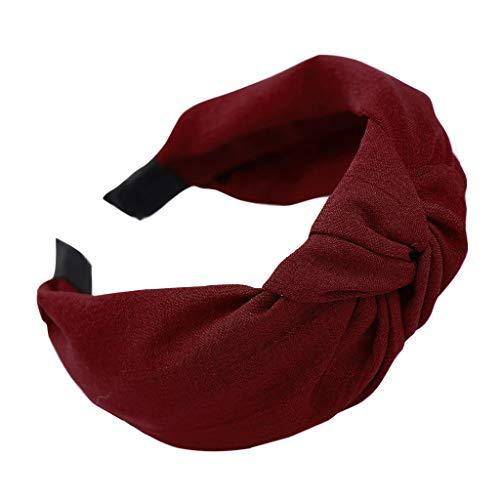 Yvelands Damen Mode Stirnbänder Breit Haarbänder Bogen Knoten Haarband Frauen Haar Kopfband Einfache Süße Mädchen Haar Stirnband Haarschmuck - Süße Schwarze Schuhe
