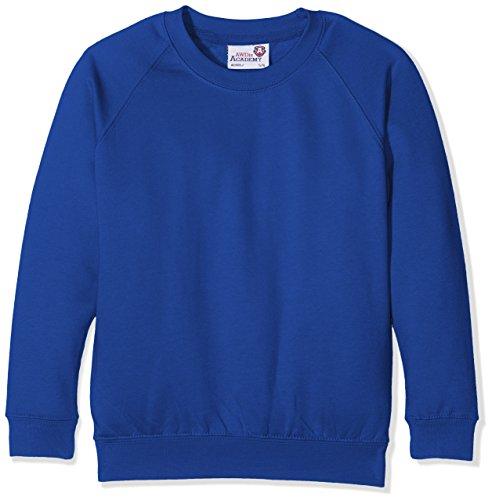 Awdis Garçon D'écolier Bleu Royal Haut Kids Sweatshirt Academy Raglan Uniforme 1ARqr1w