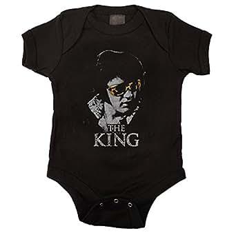 Elvis Presley - - Le roi-enfant unisexe Onesie en noir, Large, Black