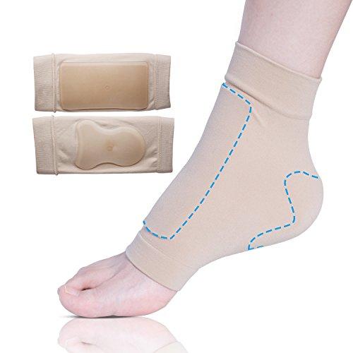 sumifun Achillesferse Pad Gel Ärmel, Polsterung Schutz Socken mit feuchtigkeitsspendendem Mineral Grade Öl