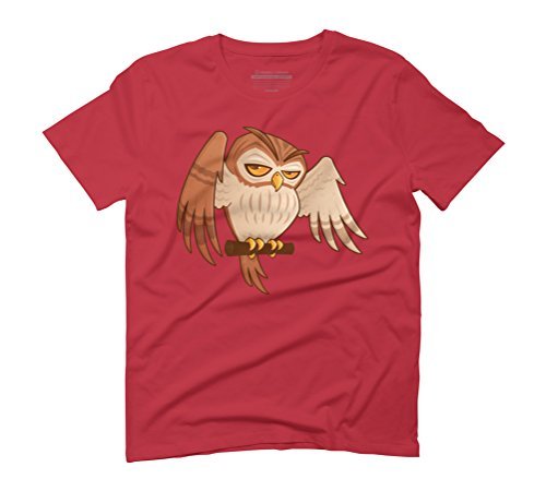 Mister Owley Men's Graphic T-Shirt - Design By Humans Red