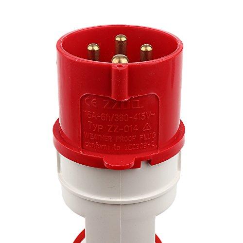 Handkraft 16a Steckdose 380V, 4-polig Wasser Wetter Elektrische Verbinder - Bild 6