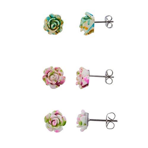 LUX Zubehör Blumen 3D Ohrring Set (3)
