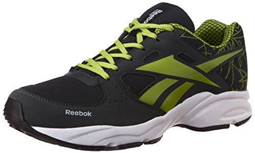 Reebok Men's Tech Speed 2.0 Lp Grey, lemon green and white Running Shoes - 6 UK