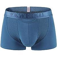 lhxyx Mens Briefs Sports-Inspired Loom Men's Boxer Brief Gun Off The Trousers Underwear Men's Boxer Trousers, Gray, L
