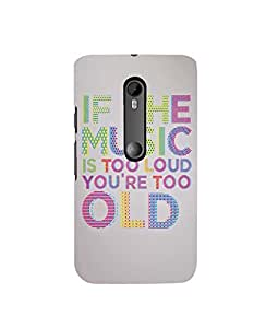 Citydreamz Loud Music\Quotes Hard Polycarbonate Designer Back Case Cover For Motorola Moto X Play