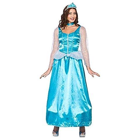 Ice Blue Princess - Adult Costume Lady: L (UK:18-20)