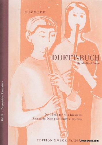 Partition classique MOECK DUETT-BUCH - 2 FLUTES A BEC ALTO Flûte à bec