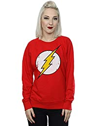 DC Comics mujer Flash Distressed Logo Camisa de entrenamiento