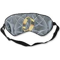 Sleep Eye Mask Gold Orange Circle Rings Lightweight Soft Blindfold Adjustable Head Strap Eyeshade Travel Eyepatch E9 preisvergleich bei billige-tabletten.eu