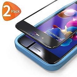 Bewahly Panzerglas Schutzfolie für iPhone 8 Plus / 7 Plus [2 Stück], 3D Full Screen Panzerglasfolie 9H Displayschutzfolie mit Installation Werkzeug für iPhone 8 Plus / 7 Plus (5,5 Zoll) - Schwarz