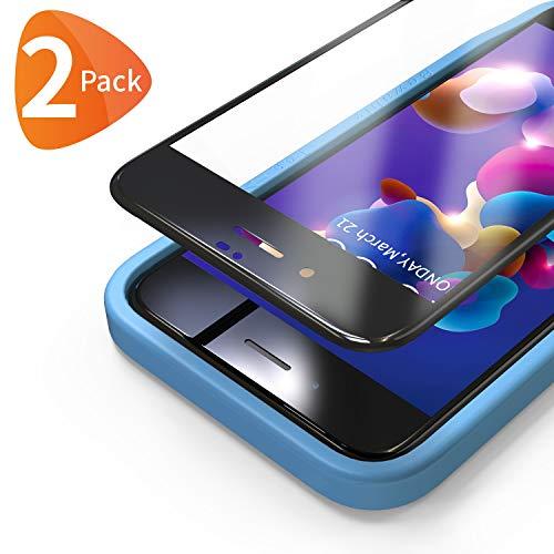Bewahly für Panzerglas Schutzfolie für iPhone 8 Plus / 7 Plus [2 Stück], 3D Full Screen Panzerglasfolie 9H Bildschirmschutzfolie mit Installation Werkzeug für iPhone 8 Plus / 7 Plus (5,5 Zoll) - Schwarz