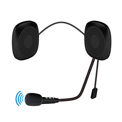 WeeLion Kopfhörer für Motorradhelme, Bluetooth V4.2-Freisprecheinrichtung für Musikanrufe, geeignet für die meisten Motorradhelme, Vollhelme, Helme, Dreiviertelhelme, Halbhelme usw.