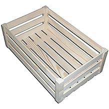 Caja de fruta decorativa, fabricada con pino, madera, 24 x 14.5 x 12.5 cm