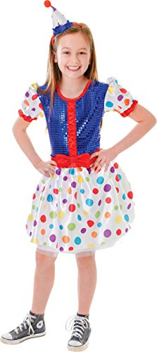 Kinder Fancy Party Clown Kleid Buch, Woche Tag Kostüm Kinder Komplettes Outfit UK (Tages Outfit)