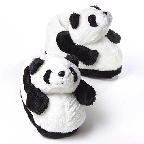 Sleeper'z - Pantofole Animali Panda - Adulto e bambino Bianco