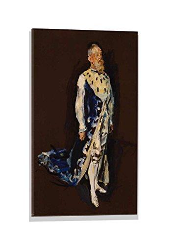 kunst für alle Glasbild: Max Slevogt Prinzregent Luitpold von Bayern im Hermelinmantel, Hochwertiges Wandbild, Brillanter Druck auf Echtglas, 40x60 cm
