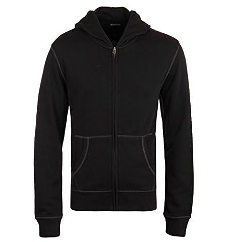 True Religion Black Skull Logo Full Zip Hooded Sweatshirt-XXL