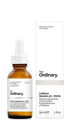 The Ordinary Soluzione con 5% di caffeina + EGCG, da 30 ml, che riduce la comparsa di pigmentazione e di gonfiore nel contorno occhi