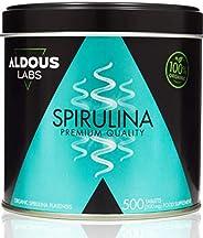Espirulina Ecológica Premium para 9 Meses | 500 comprimidos de 500mg con 99% BIO Spirulina | Vegano - Saciante