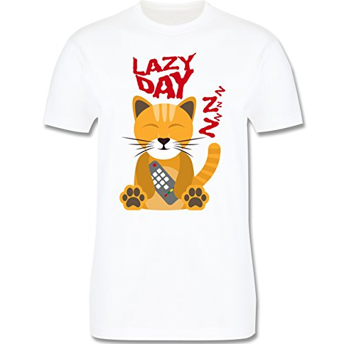 Comic Shirts - Lazy Day - Herren Premium T-Shirt Weiß